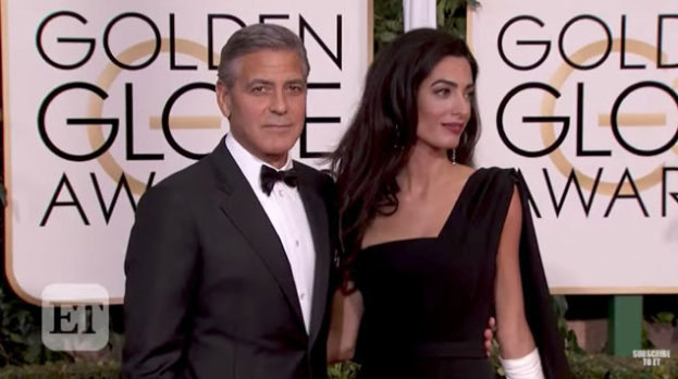 George Clooney and Amal Clooney on ET