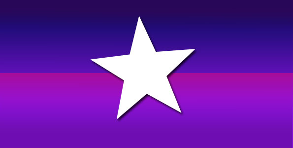 Cardinal Star on purple