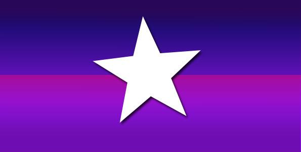 Cardinal Star on purple